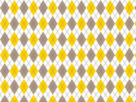 Argyle ● Brown × Yellow