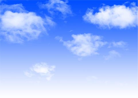 Clouds and sky · gradation b
