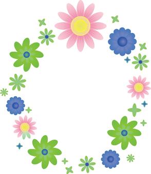 Flower 04 - Frame round 01