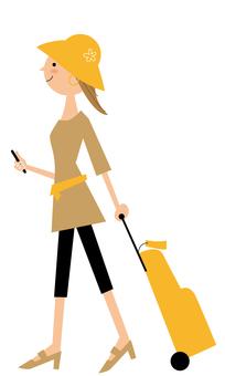 여행 여성 _ 산책