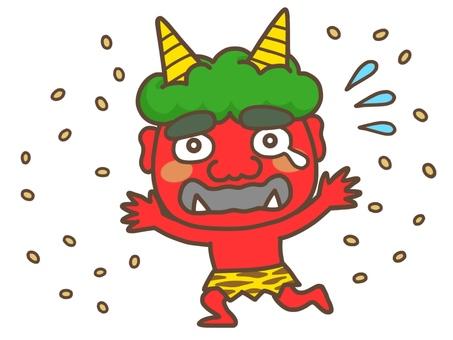 Aka who is running away with bean-maki