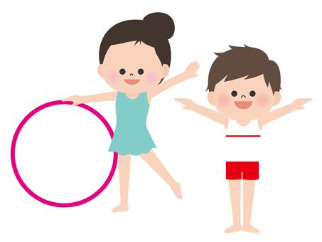 Human material <Gymnastics and rhythmic gymnastics>