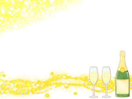 샴페인 프레임 (노란색)