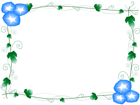 나팔꽃 프레임 (하늘색)