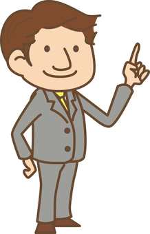 Suit men (pointing)