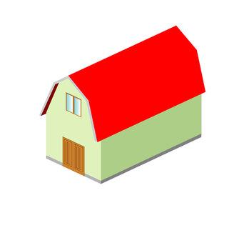 紅色的屋頂穀倉
