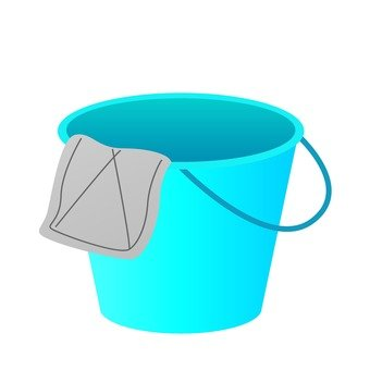 Bucket and clip, blue