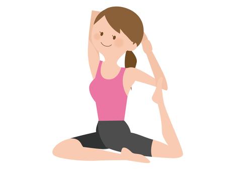 瑜伽姿勢的女人