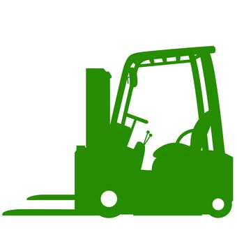 Fork lift silhouette green