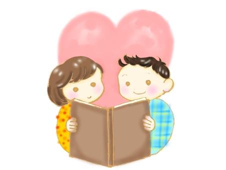 仲良く読書