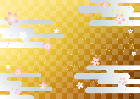 New Year _ and handle _ lattice _ gold _ background