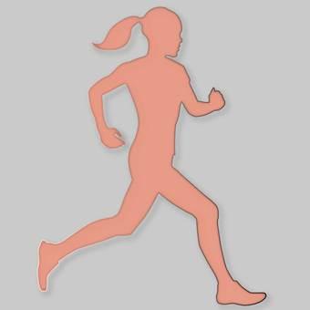Female runner · Silhouette