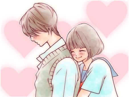 Hug from behind (Heart)