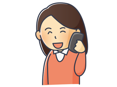 Illustration of a woman calling on a smartphone