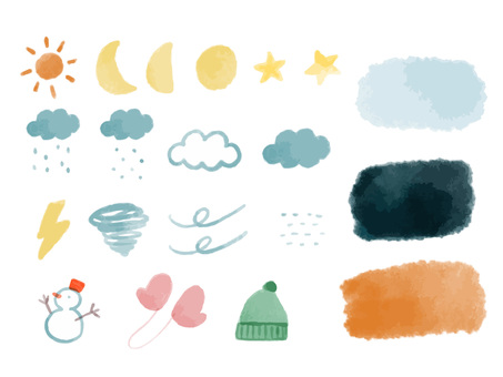 Watercolor weather motif