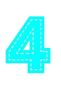 Numerals (4) Applique style