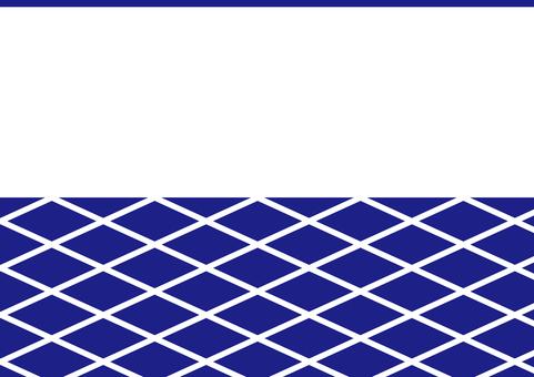 Japanese style wall pattern _ blue