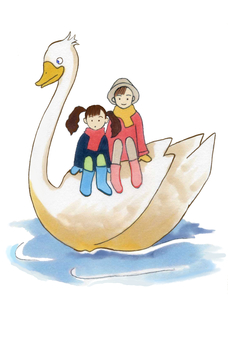 Riding on Swan