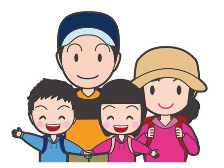 Family travel upper body