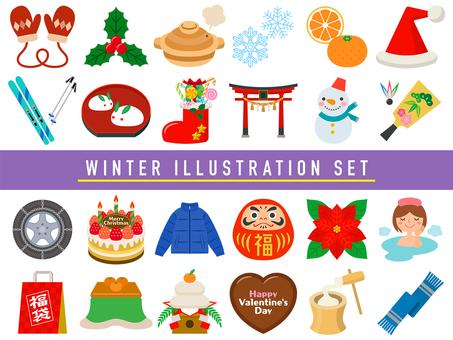 冬のイラストセット-01