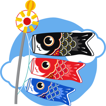 Koinobori _ round background