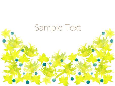 黃色花框架
