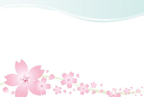 春らしい可愛いピンクの桜の背景