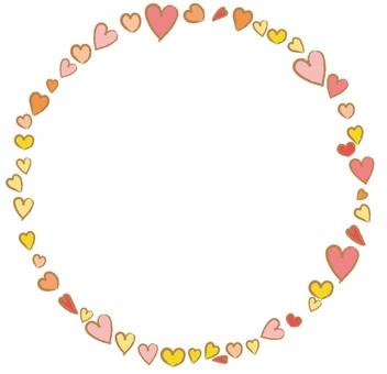 Handwritten heart heart pink