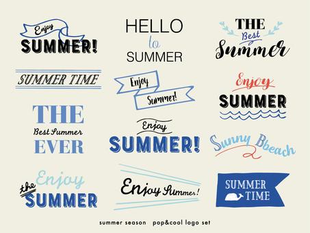 夏のロゴ素材