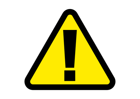 Warning alert surprise mark rounded triangle black yellow