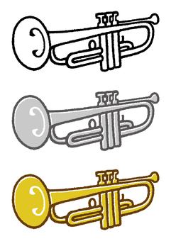 Musical instrument (trumpet) 3 colors