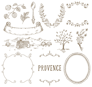 Provence image hand-painted