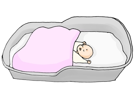 자는 아기