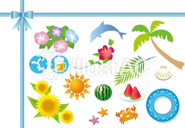 夏の風物詩の素材イラスト No 161741無料イラストならイラストac