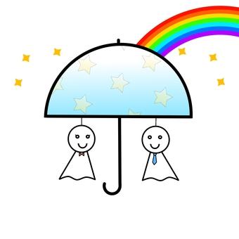 Umbrella て る る 坊 Rainbow 5