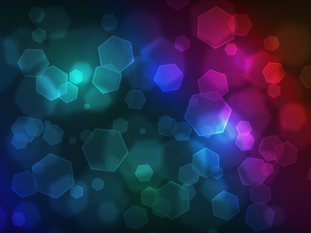 Hexagonal light · dark rainbow