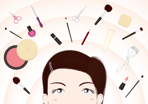 婦女的化妝形象