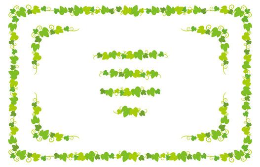 黃綠色葉子框架