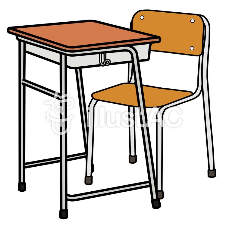 学校の机椅子イラスト No 557327無料イラストならイラストac