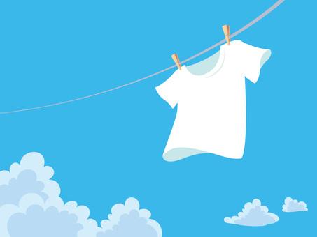 Washing the T-shirt