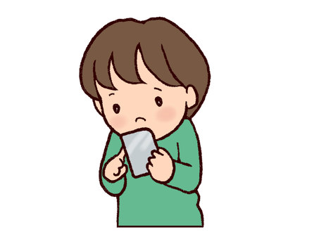 A smartphone and a boy