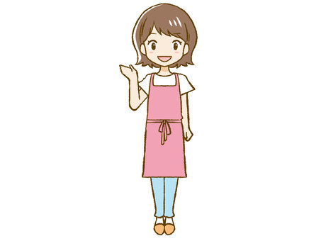 Apron woman to guide ①
