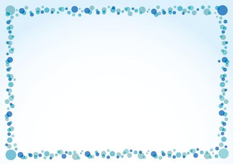 Summer dots ball drop frame (Aqua)