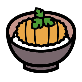 And Japanese food icon Japanese bowl of rice dishes