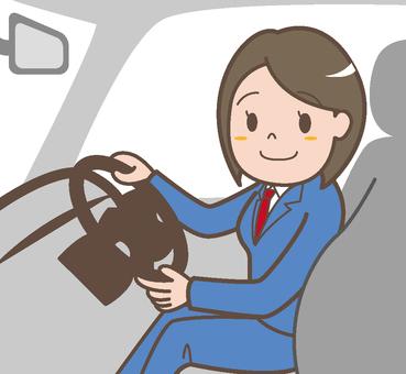 Taxi female driver