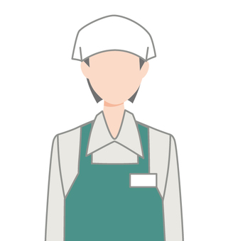 Clerk icon icon dining room sling female upper body