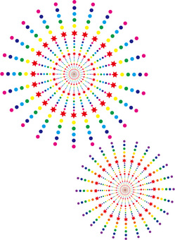 Fireworks colorful