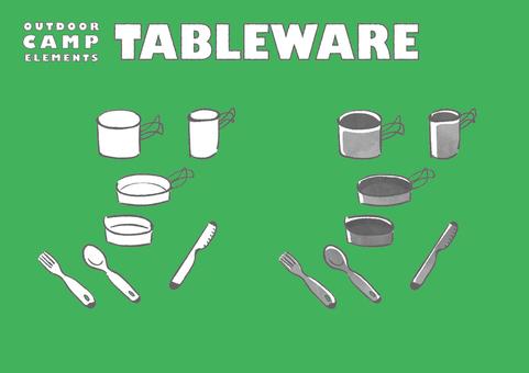 Camping tableware