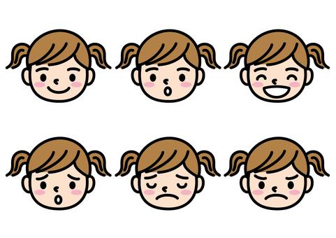 Girls face set