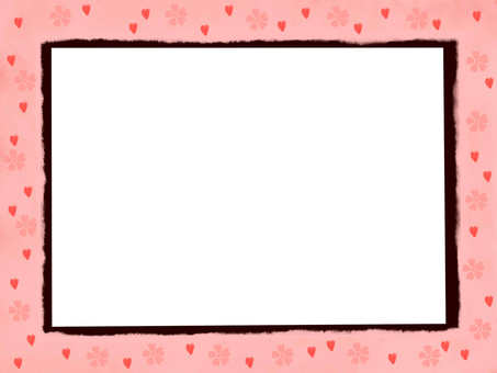 Sakura Japanese pattern frame